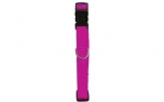 COLLIER NYLON REGLABLE 20MM FUSHIA