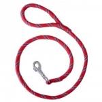 Laisse CORDE nylon 13 mm rouge 1,20 M